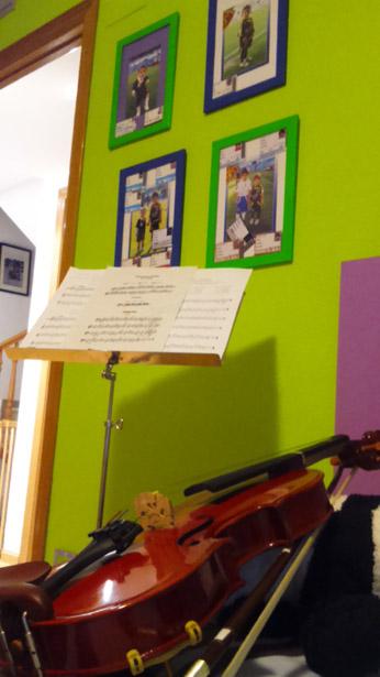 violín pequeño